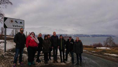 Bilde: Gruppebilde av deltakere på Interreg tjenesteinnovasjon-prosjektsamling i Frosta