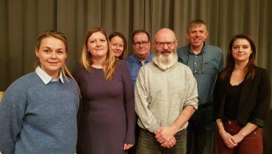 Bilde: Fra venstre: Marthe Siira (Trondheim Kommune), Ingelin Anderssen (Trondheim kommune), Møyfrid Kjølsdal (NAPHA), Dagfinn Bjørgen (KBT), Svein Sørensen (Trondheim kommune), Steinar Trefjord (Sandnes kommune) og Christina Kildal (KBT).