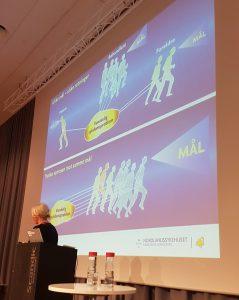 Bilde: Kari Buckmann (Nordlandssykehuset) forteller om involvering av pårørende