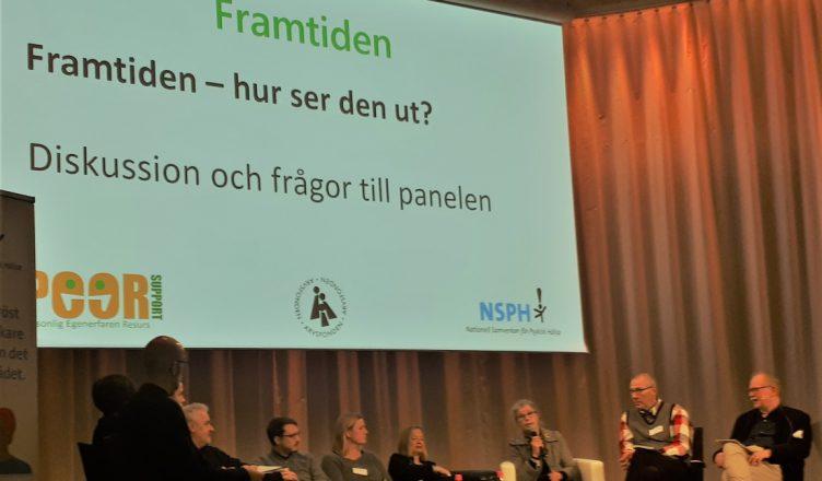 Bilde: Paneldiskusjon på Framtidskonferansen i Stockholm 28.1.19