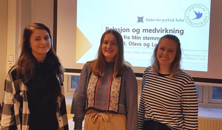 Bilde: Fra venstre: Christina Kildal, Johanne Bakken Moe og Ida Therese Håverstein