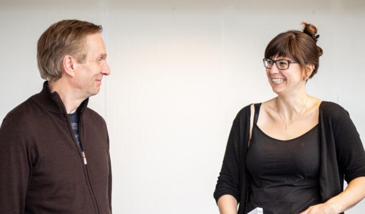 Karl Johan Johansen og Anne Hirrich