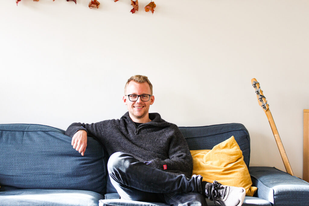 Erlend D. Wormdal ved Glimt Recoverysenter