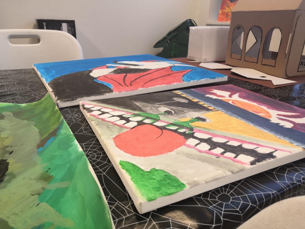 Bilde: Maleri laget på Glimt ung